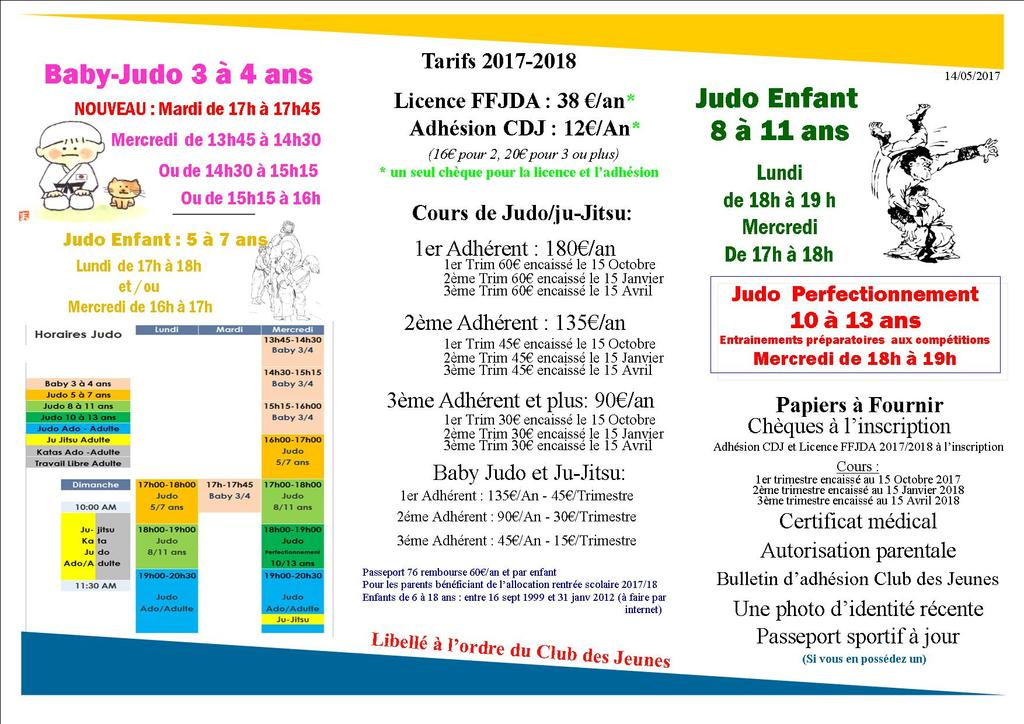 Information Section Judo 2017-18